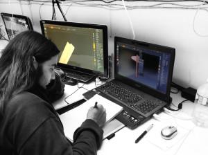Stéphane Roch à l'atelier ZBrush - élève en 3ème année à l'école 3D Studio Mercier