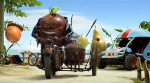 Pub Oasis Fruit Race par le studio Mathematic